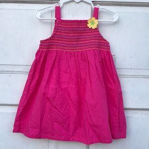 NWT J Khaki 2pc Smocked Pink Dress Diaper Cover 18